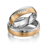 China 18k gold plated western couples promise rings for men and women on sale
