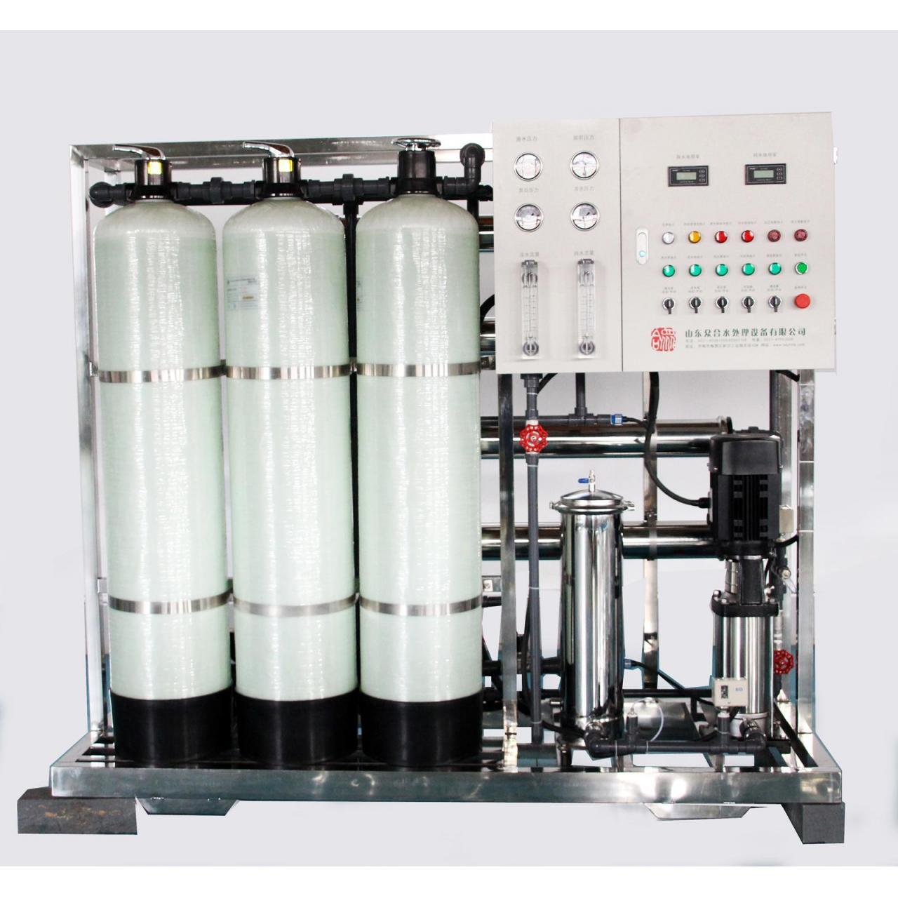 China Long service life reverse osmosis 1000L water treatment system wholesale