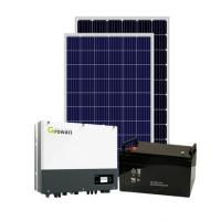 Buy cheap Solar Power System 5kw 6kw Single phase hybrid solar panel system for home with lithium battery from wholesalers