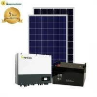 Buy cheap Solar Power System Two phase 5kw grid tied solar system home with monitoring from wholesalers