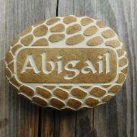 Buy cheap Custom Name Pebble, Personalised Engraved Stone Gift for New Baby, Christening, Boy & Girl AP31 from wholesalers
