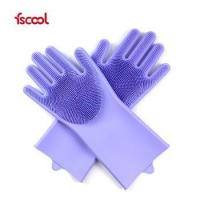 Buy cheap Fscool Hot Sale Eco-Friendly Heat-resistant Household Kitchen Washing Silicone Brush Gloves from wholesalers