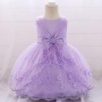 China In-stock Summer Flower Mini Dress Kids Party Dresses Children Garments L1869XZ wholesale