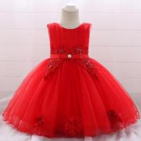 China Best Seller Girl Flower Party Dress Baby Birthday Frock Mini Kids Clothing L1871XZ wholesale