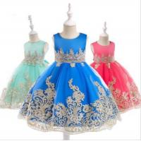 China Wholesale Baby Frock Latest Kids Clothing Lace Frock Designs Wedding Party Bridesmaid wholesale