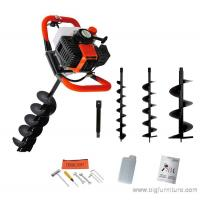China 52cc Petrol Earth Auger 3HP Post Hole Borer Ground Drill with 3 Bits + Extension wholesale