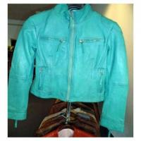 Buy cheap Green Leather Jacket from wholesalers