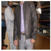 Buy cheap Brown leather Jacket from wholesalers