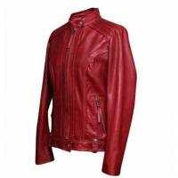 Buy cheap Red Leather Jacket from wholesalers