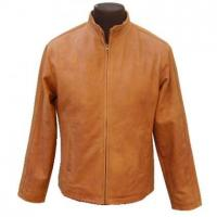 Buy cheap Tanned Leather Jacket from wholesalers