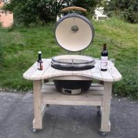 Buy cheap Mobile arc-shaped Wooden BBQ Cart from wholesalers