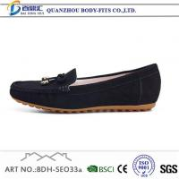 China Women's Casual Loafers Black Casual Suede Athletic Shoes for Ladies on sale