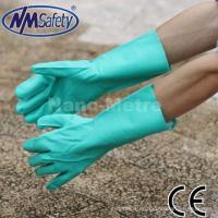 China NMSAFETY Green industrial household nitrile chemical gloves wholesale