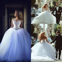 China arabic Luxury Bridal Ball Gowns Crystal Wedding Dresses Z5041 wholesale