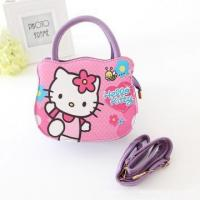 China One piece lovely hello kitty PU Handbags, Girls Tote Bags With mint/ pink cartoon handbags wholesale