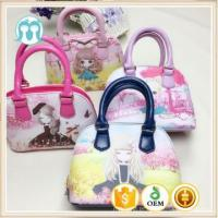 China One piece lovely Cartoon Pattern Handbags, Girls Tote Bags With yellow/ pink handbags le wholesale