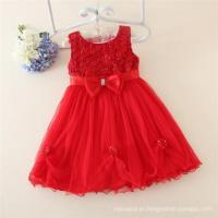 China Kids red clothes 2015 children fashion sleeveless girl dress with Child wholesale dresses chinese wholesale