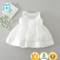 China 2017 wholesale 0-2Y baby kids dresses with diamonds beading many layers new frocks in white wholesale