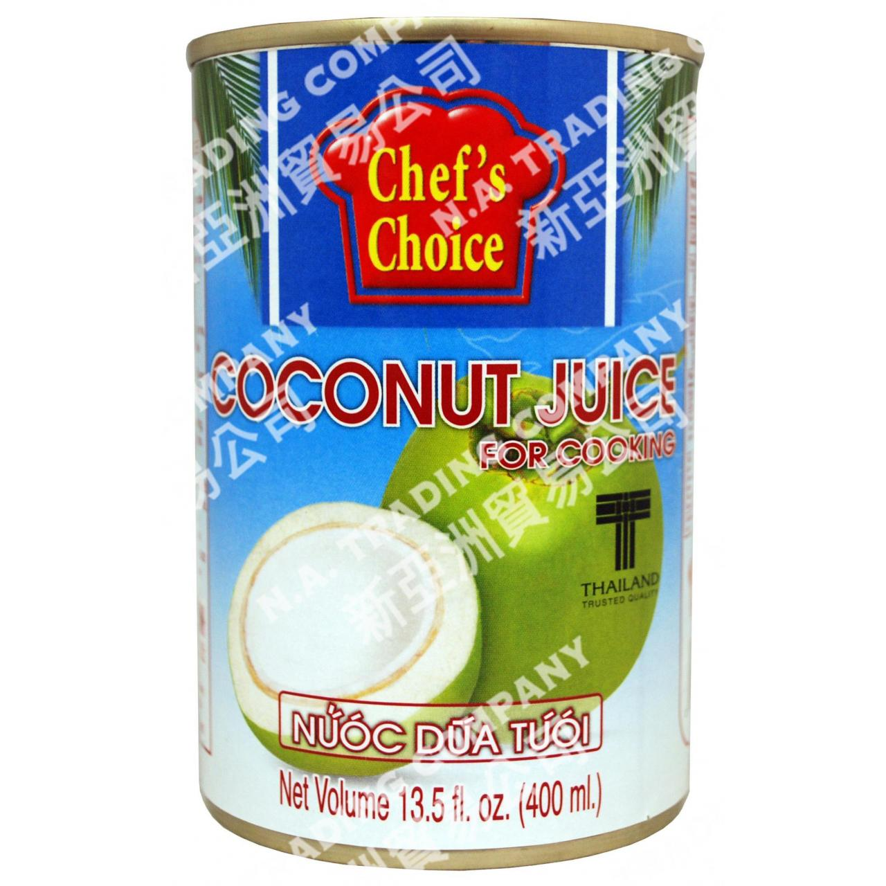 China CANNED PRODUCTS CP016 COCONUT JUICE F/COOK CHEF CHOICE 24X13.5Z on sale