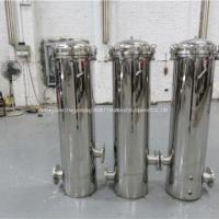Buy cheap Food Industry Stainless Steel Cartridge Filter Housing / Security Filter Tank from wholesalers