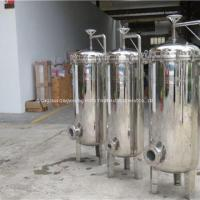 Buy cheap Stainless Steel Industrial Liquid Bag Filter Housing For Water Treatment Plant from wholesalers