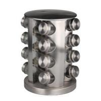 China Spice Rack with 16 Glass Jar Bottles wholesale