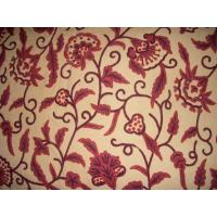 Buy cheap Cotton Crewel Embroidered Fabric Jacobean, White on Grey #TML402 from wholesalers