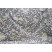Buy cheap Cotton Crewel Embroidered Fabric Off-White, Multicolor #JHL002 from wholesalers