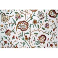 Buy cheap Cotton Crewel Embroidered Fabric