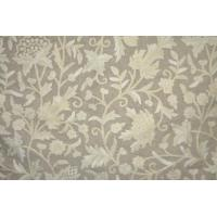 Buy cheap Linen Crewel Embroidered Fabric Floral Beige, Multicolor #FLR621 from wholesalers