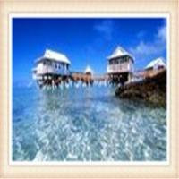 China Tropical Moisture Ventilation Overwater Bungalow / Wooden Houses over water bungalow wholesale