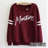 China Sweatshirts new Korean character letter hoody women's sweater thick sect wholesale