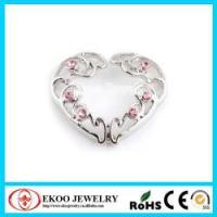 China Clip On Heart Nipple Ring with Gems Nipple Jewelry Non Piercing on sale