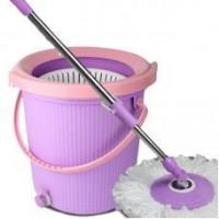 China Household Cleaning Supplies Lazy Mop Bucket With Wringer Floor Cleaning Mop,#11010 on sale