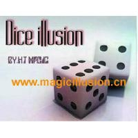 China dice illusion Dice Illusion w Mirror silk magic tricks wholesale