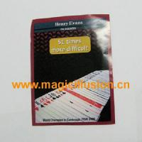 China Card Magic 51 Times More Difficult by Henry Evans magic tricks wholesale