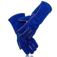 China Cow Split Leather Work Leather Welding Gloves on sale
