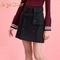 China Latest fashion casual A-Line short high waisted mini skirt for summer wholesale