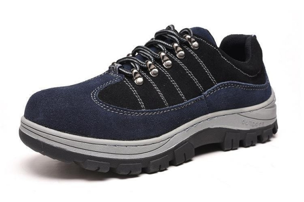 Quality Mens And Womens Foot Guard Blue SD Sneakers Athletic Steel Toe Work Shoes Navy Blue for sale