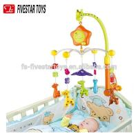 China Non-toxic plastic hanging mobiles musical baby bed bell toys on sale
