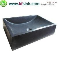 China Honed Black Granite Sink For Kitchen on sale