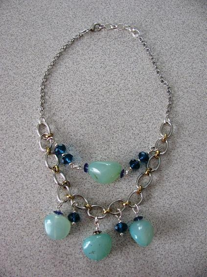 Quality Necklaces with Matching Earrings Agate and crystal for sale