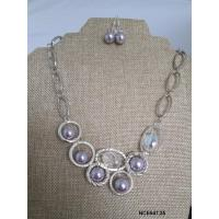 China Necklaces with Matching Earrings Silver Plated Links wholesale