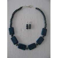 China Necklaces with Matching Earrings Peacock in stone wholesale