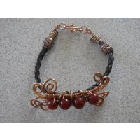China Bracelets Carnelian with copper wire wholesale