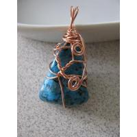 China Pendants Copper wire wrapped Turquoise Pendant wholesale