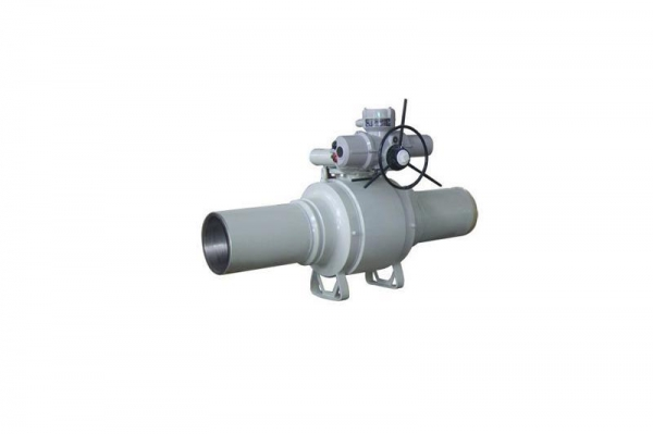Quality Fully-welded carbon steel ball valve with transition pipe for sale