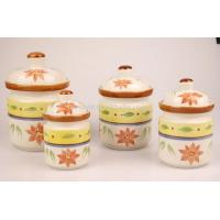 China 4pieces handpainted canister wholesale